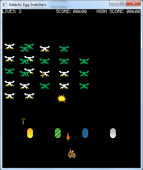 Galactic Egg Snatchers Screenshot
